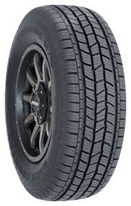 Back Country QS-3 Highway Tire tread view, black lettering